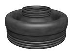 Резиновые защитные наконечники для одной несущей трубы Флексален 600