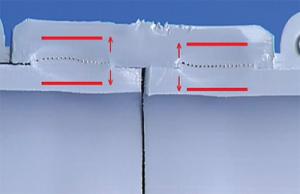 разрез рас тpуб ной сварки полибутена