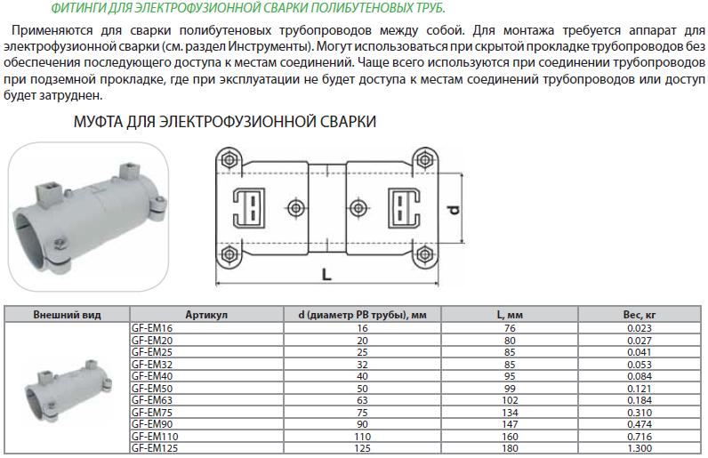 Муфта для электрофузионной сварки