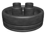 Резиновые защитные наконечники для двух несущих труб